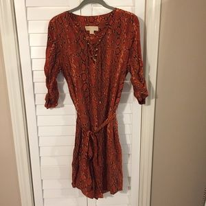 Michael Kors orange python dress
